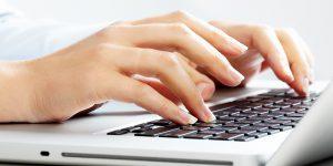Hands Using Computer